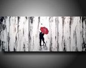 Huge Jmjartstudio Original 3 piece Painting 20 inches X 48 inches  ----- Tighter-------Textured--- Custom