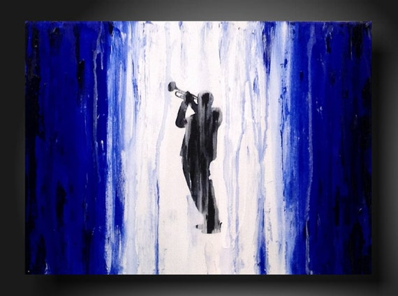 Original Painting Art  JMJARTSTUDIO 18 X 24 INCHES Textured Vibrant Blue  ---- Shining-----Ready to hang