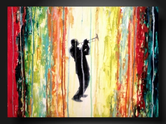hold for Naomi ----JMJARTSTUDIO Original Painting 18 X 24 Inches-------Standing out --------Textured