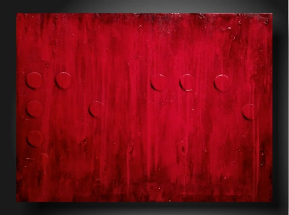 ORIGINAL Abstract Contemporary Fine Art Abstract Textured Painting modern Braille Painting 18 X 24 inches Peace