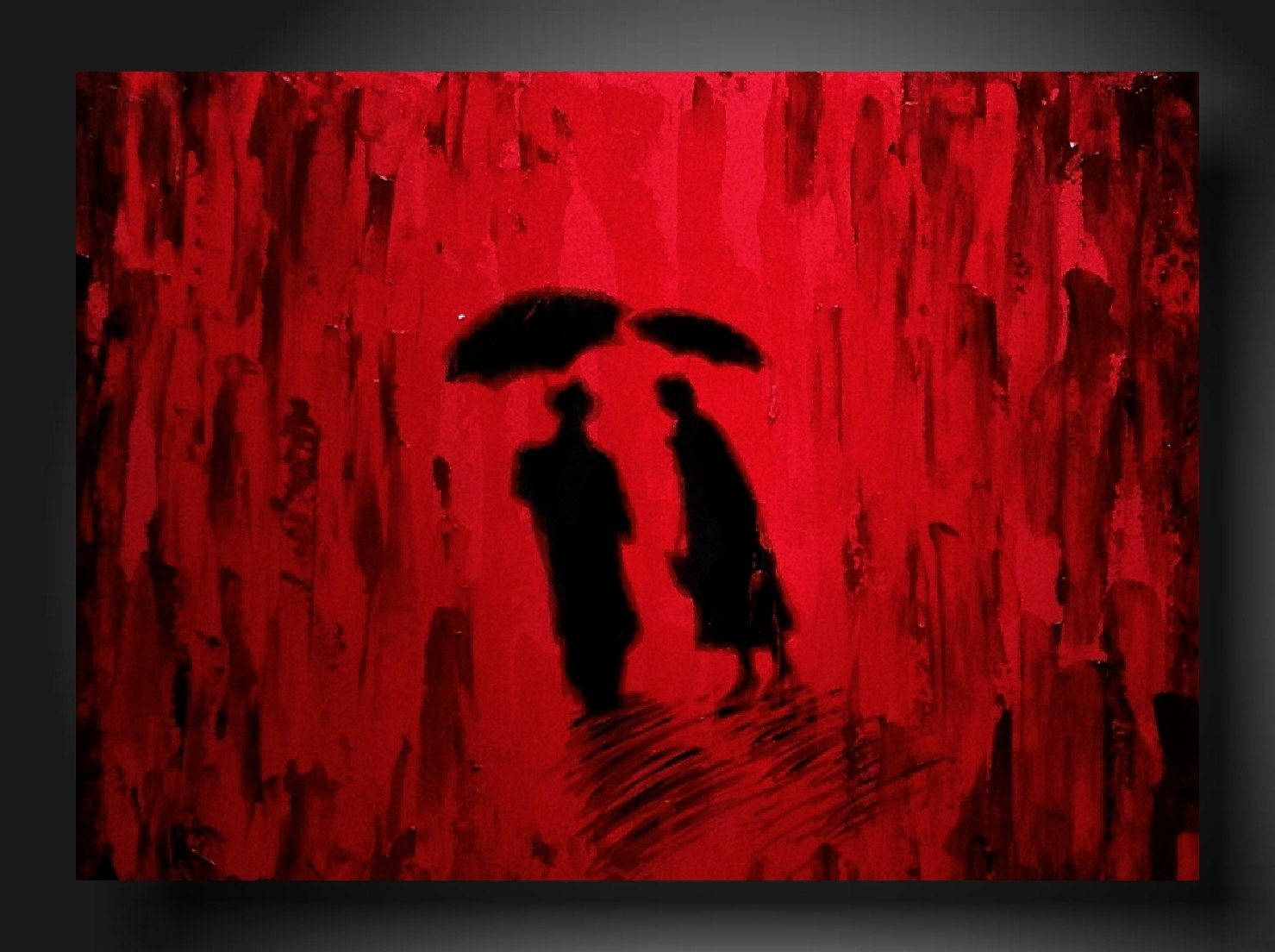 Black and white and red paintings art painting original abstract