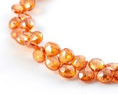 2 Stk. Orange Topaz 5mm.