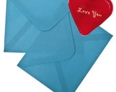 "Romantic Glass Heart Love Note Magic 1.5x1.5x.5"" 1.6oz"