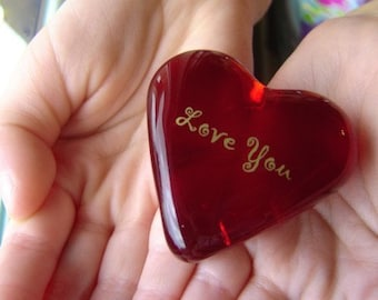Red Glass Heart Hide and Seek Love Heart Note for Every Holiday