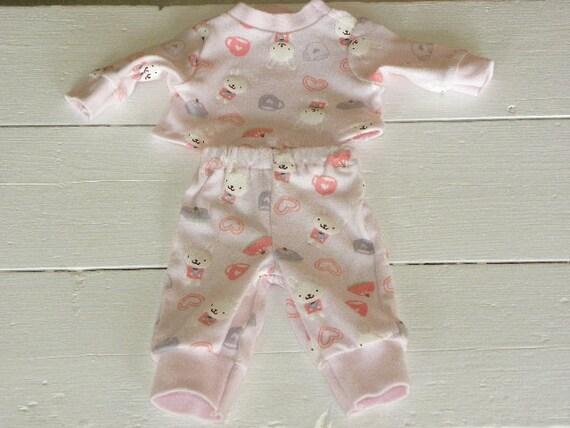 Pink Bunny Pajamas - 14 - 15 inch doll clothes
