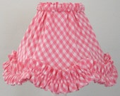 RESERVED       Pink and White Gingham Lampshade