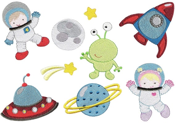 Space machine embroidery design set blast by embroidalot for Space embroidery patterns