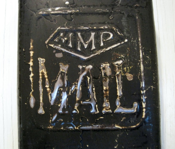 1940s Metal Mail Box. Way cool metal patina. MMP: Managed Mail Program