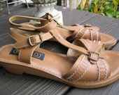 Vintage Camel Strappy Chunky Sandals PRICE REDUCTION