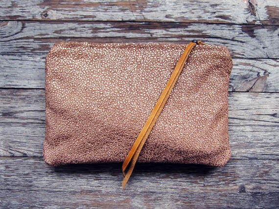 SHINE - Rose Gold Sparkle Clutch