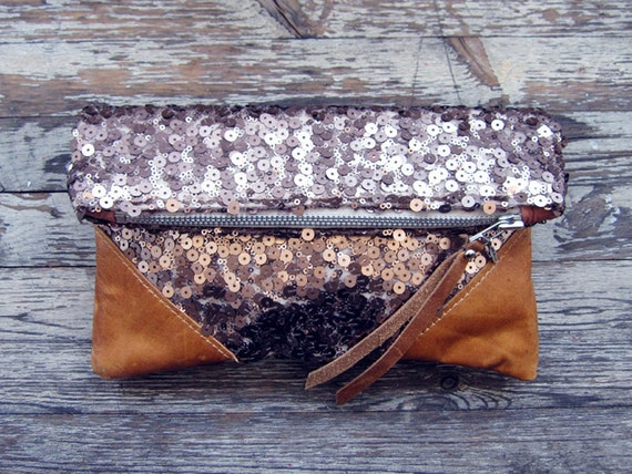 LIBRO CLUTCH - Rose Gold Shine