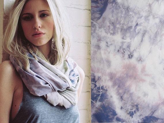 ENDLESS SUMMER - Silk and Linen Circle Scarf