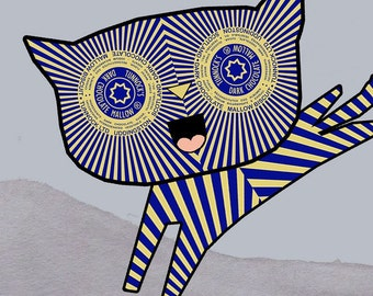 Teacake Kitten - Original Digital Print / Art Print - Cookie Print - Tunnocks Art