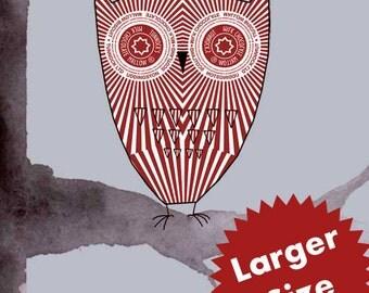 Larger Size Teacake Owl Print