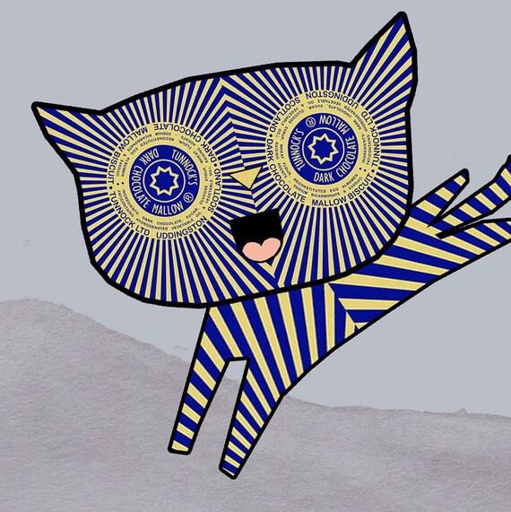 Teacake Kitten - Original Digital Print
