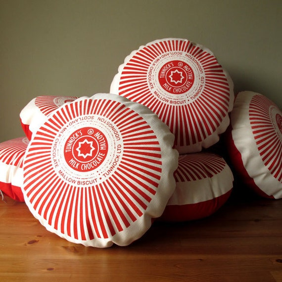 Tunnock's Teacake Screen-Printed Cushion