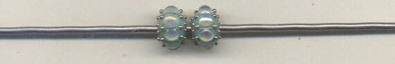 Tom's lampwork Glacier opal crown jewels 2 bead set, 1 pair 8748 (RESERVED FOR NANCY)