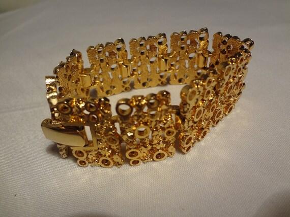 Vintage Chunky Gold Bracelet