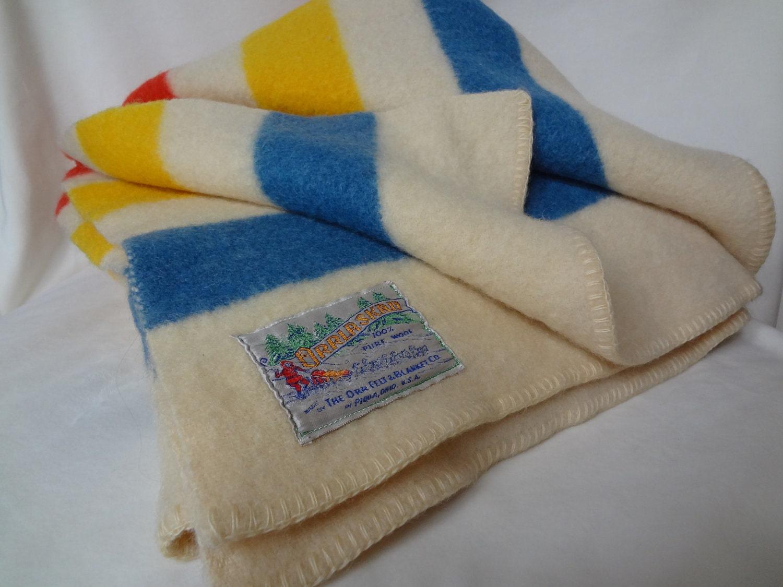Vintage Wool Blanket By The Orr Felt Amp Blanket Company
