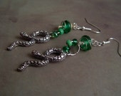Slytherin Snake Dangle Earrings