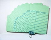 Library cards, light green color
