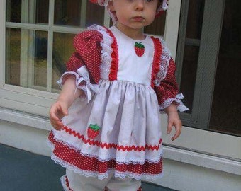 Now Taking Orders for Halloween...Boutique OOAK Strawberry Shortcake Dress