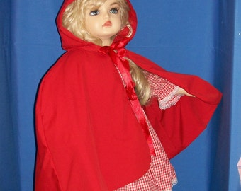 Boutique OOAK Little Red Riding Hood Set