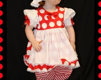 Stephanie Collection Boutique Raggedy Ann Dress Set