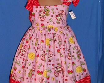 Boutique OOAK Custom Made Strawberry Shortcake Dress Set