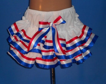 Boutique OOAK Custom Made Triple Ruffle Forth of July Panty/Diaper Cover