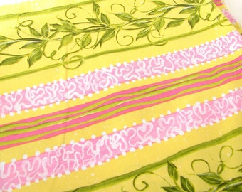 1.5 Yds. Roses Ribbon Stripe by Donna Dewberry from Westminster Free Spirit Quilting Fabric