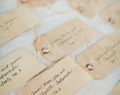 Escort Cards - Wedding Tags - Set of 200 - French Market - xo, j&L (TGS 040)