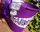 CHeeR goOO team, easter, basket, bucket handpainted  personalized   ....design your own......