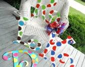 monogram initials...summer fun....aDOORable aDOORnments door BLING.....pick your own colors and design....personalize it.....