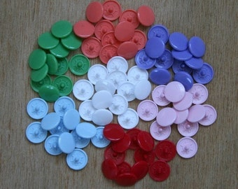 KAMSnaps 100 set Plastic Snaps (size 20 and 16) (you can pick up to 4 colors)(On Sale)