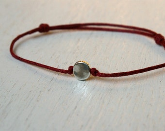 Little Circle Bracelet / Little Circle Anklet (many colors to choose)