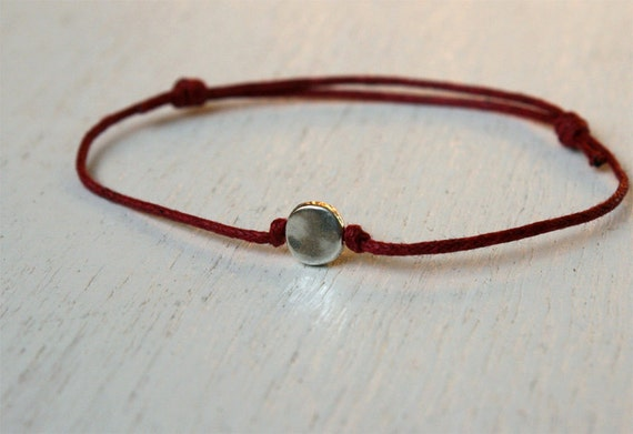 Little Circle Bracelet / Little Circle Anklet (many colors to choose)