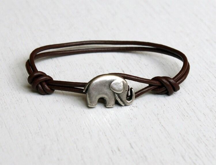 elephant leather bracelet many colors to choose