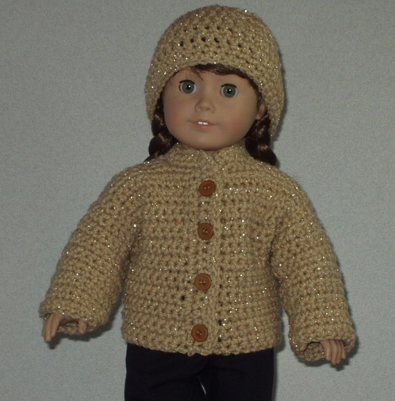 Crocheted Sweater and Hat for 18 inch or American Girl Doll