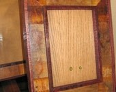 "Wine Barrel Stave Picture Frames  --  5"" x 7"""