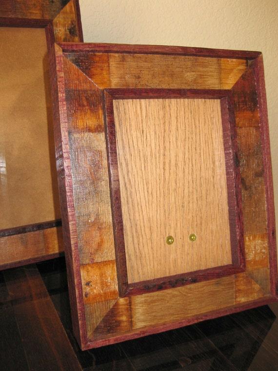 wine barrel stave picture frames 5