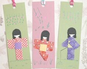 Origami Bookmarks\/Tags (Set of 3 as pictured)