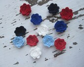 Wool Felt Flowers-Americana Collection-Felt Posie-3d Felt flower-Felt Rosette-Felt Flower Embellishments-Wedding-Birthday
