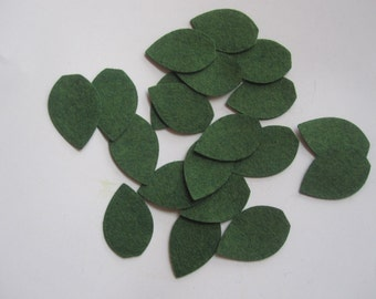 Leaf Felt Cut Outs-DIY hair clips, scrapbook, headband-20 pieces-Leaves Felt Die Cut Felt Leaves
