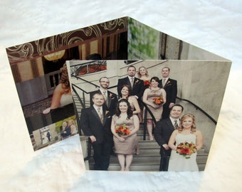 Photo Wedding Thank You Card - Unique, folded cards - (12)