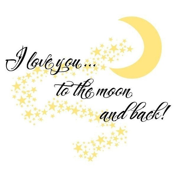 Items Similar To I Love You To The Moon And Back Vinyl: Items Similar To Nursery Wall Decal- I Love You To The