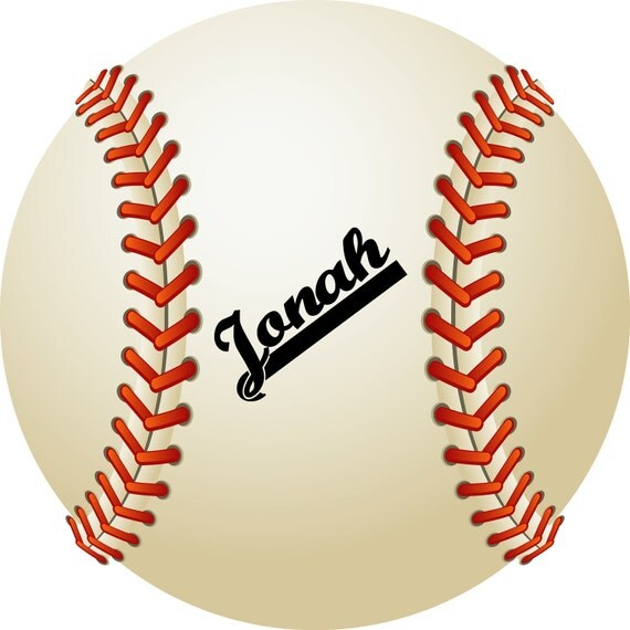 Personalized plate featuring baseball with your player's name