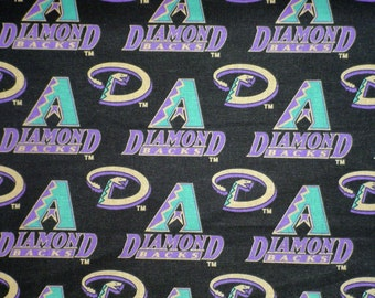 MLB Arizona  Diamond Backs  Cotton Fabric,  18 by 30 inches  New,  Rare