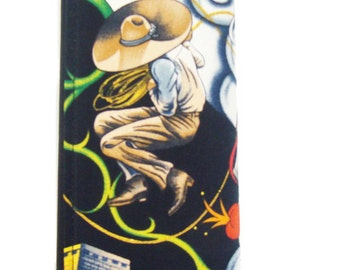 Contigo Cowboy Western  Day Of The Dead US Handmade Woman Wallet Alexander Henry Fabric, new