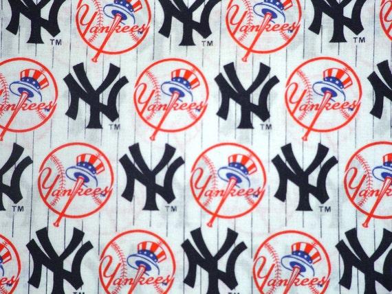 MLB NEW YORK YANKEES Cotton Fabric - ONE yard NEW AND RARE